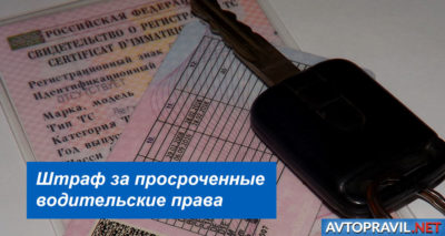 Размер штрафа за просроченные водительские права